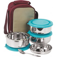 Deals, Discounts & Offers on Home & Kitchen - NanoNine SS075 Insulated 3pc Senior Lunch Box