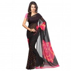Deals, Discounts & Offers on Women Clothing - Jaanvi Fashion Synthetic Saree with Blouse Piece