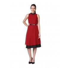 Deals, Discounts & Offers on Women Clothing - D&S Women's Georgette Crepe Sleeveless Dress
