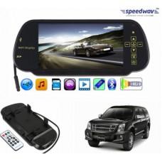 Deals, Discounts & Offers on Car & Bike Accessories - Speedwav 1 7 inch Rear View Mirror Screen, 1 Bluetooth,USB,SDCard-IsuzuMU-7 Combo