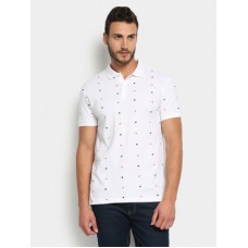 Deals, Discounts & Offers on Men Clothing - Flat 60% off on Of Benetton  Star Print Polo Slim Fit T-shirt