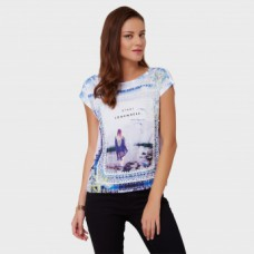 Landmark Offers and Deals Online - Flat 50% off on GINGER Graphic Print Lacy Top
