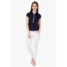 Landmark Offers and Deals Online - Flat 20% off on  Embroidered Band Collar Top