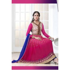 Deals, Discounts & Offers on Women Clothing - Styles Closet Designer Pink Anarkali Salwar Suit
