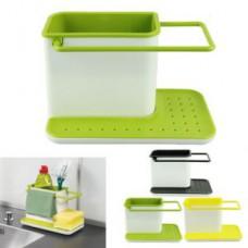 Deals, Discounts & Offers on Home Appliances - Kawachi Plastic Cabinet Storage 3 In 1 Kitchen Sink Organizer Rack