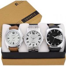 Deals, Discounts & Offers on Men - Laurels  Triple Combo Series Analog Watch