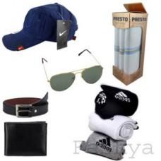 Deals, Discounts & Offers on Men - Feshya  Value Pack Combo - Cap,sunglass,wallet,belt,socks,handkerchief