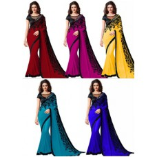 Deals, Discounts & Offers on Women Clothing - RadadiyaTRD Georgette Saree