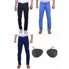 Deals, Discounts & Offers on Men - Denim Dhamaka: Pack Of 3 Stylish Stretchable Cotton Jeans By X-Cross