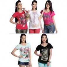 Deals, Discounts & Offers on Women Clothing - Flat 60% off on Girls Round Neck T Shirts