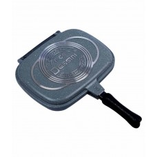Deals, Discounts & Offers on Home & Kitchen - Home Creations Double side pan Non-Stick Aluminum Grill Pan
