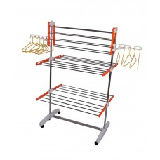 Deals, Discounts & Offers on Home Appliances - Homemate Silver Stainless Steel Cloth Stand