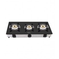 Deals, Discounts & Offers on Home & Kitchen - Pigeon 3 Burner Glass Top Gas Stove Favorite