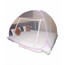 Deals, Discounts & Offers on Home Decor & Festive Needs - Flat 55% off on Aecone Pink Polyester Mosquito Net