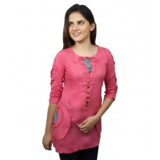 Deals, Discounts & Offers on Women Clothing - KAAF FASHION PeachPuff Cotton Tops