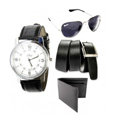Deals, Discounts & Offers on Men - Flat 80% off on Rio Combo Of Watch Belt Wallet And Sunglass