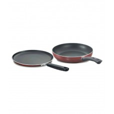 Deals, Discounts & Offers on Home & Kitchen - Prestige Omega Deluxe Twin Pack Non-Stick Aluminum Fry Pan