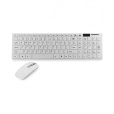 Deals, Discounts & Offers on Computers & Peripherals - Snehi SN7575 White Wireless Keyboard Mouse Combo Keyboard