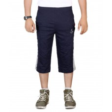 Deals, Discounts & Offers on Men Clothing - Flat 60% off on Vego Navy Cotton Solid 3/4ths