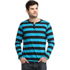 Deals, Discounts & Offers on Men Clothing - Bigidea Striped Men's Henley T-Shirt