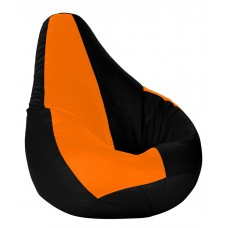 Deals, Discounts & Offers on Furniture - Beanbagwala XXL Bean Bag with Beans Black & Orange