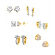 Deals, Discounts & Offers on Accessories - Renaissance Traders Alloy Gold Plated American Diamond Studded Earring