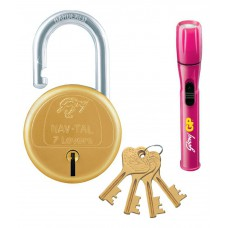 Deals, Discounts & Offers on Accessories - Godrej Nav-Tal 7 Lever Padlock (Golden) with Torch