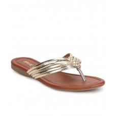 Deals, Discounts & Offers on Foot Wear - Lavie Gold Flat Slip-ons