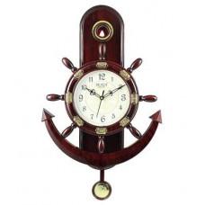 Deals, Discounts & Offers on Home Improvement - Plaza Quartz Motion-Anchor And Steering Design Pendulum Wall Clock