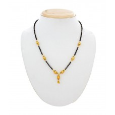 Deals, Discounts & Offers on Women - The Luxor Alloy Gold Plating Black Coloured Mangalsutra