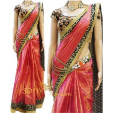 Deals, Discounts & Offers on Women Clothing - Try N Get's Pink Color Art Silk Fancy Designer Saree