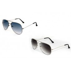 Deals, Discounts & Offers on Accessories - Combo of 2 Aviator Style Sunglasses