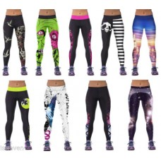 Deals, Discounts & Offers on Women Clothing - iSweven multicolor yoga pant polyester+spandex leggings tight