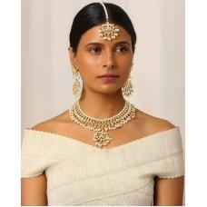 Deals, Discounts & Offers on Women - Gold-Plated Kundan Bridal Set