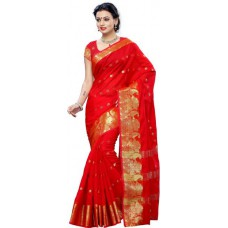 Deals, Discounts & Offers on Women Clothing - Mimosa  Kanjivaram Cotton Sari