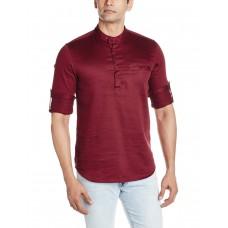 Deals, Discounts & Offers on Men Clothing - Freehand  Waist Long Cotton Kurta