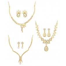 Deals, Discounts & Offers on Women - Voylla Gold Necklace Set Combo