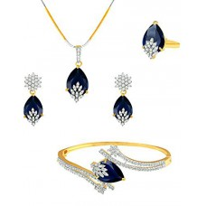 Deals, Discounts & Offers on Women - M CREATION American Diamond Combo of Pendant with Earrings, Bracelet and Ring