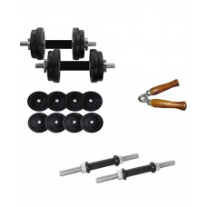 Deals, Discounts & Offers on Sports - Aurion 24 Kg Dumbbell Set With Accessories
