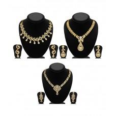 Deals, Discounts & Offers on Women - Sukkhi Zinc Gold Plated Australian Diamond Golden Necklace Set