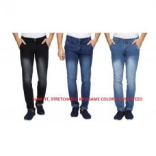 Deals, Discounts & Offers on Men Clothing - Wajbee Blue Black Mid Rise Jeans
