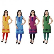 Deals, Discounts & Offers on Women Clothing - Sukuma Printed Bright Look Pure Cotton Kurti