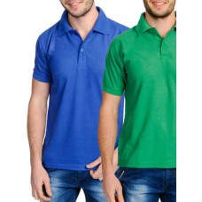 Deals, Discounts & Offers on Men Clothing - Flat 35% off on set of 2 cotton blend t-shirts