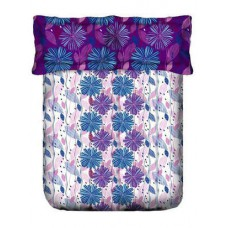 Deals, Discounts & Offers on Home Appliances - Flat 15% off on purple,blue & white cotton bed sheet set