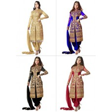 Deals, Discounts & Offers on Women Clothing - Designer & Embroidered - Semi Stitched Salwar Suit
