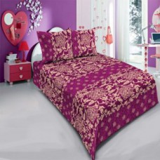 Deals, Discounts & Offers on Home Decor & Festive Needs - Carah Exclusive Floral Print Double Bedsheet With Two Pillow Covers