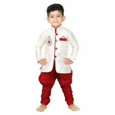 Deals, Discounts & Offers on Baby & Kids - Ftcbazar White Silk Indo Western Dress for Boys