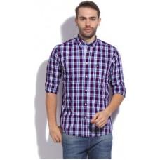 Deals, Discounts & Offers on Men Clothing - Arrow Sport Men's Checkered Casual White, Blue, Purple Shirt