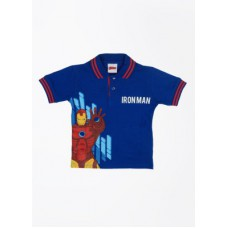Deals, Discounts & Offers on Baby & Kids - CHERISHKNITS Printed Boy's Polo Blue T-Shirts