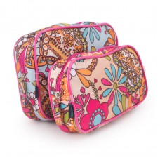 Deals, Discounts & Offers on Women - Spring Is In The Air Cosmetic Bags - Set Of 2